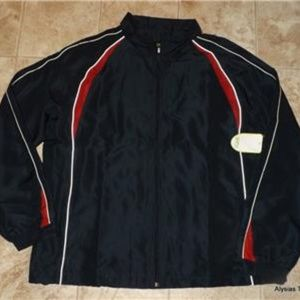 NEW Mens Medium Navy Blue Athletic Jacket GURU